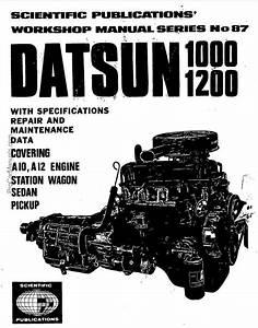 Datsun 1000 1200 A10 A12 Engine Service Manual