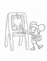 Coloring Step2 Easel Downloads sketch template