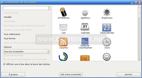 installer sur le bureau screenlets tutoriel pour installer et configurer des