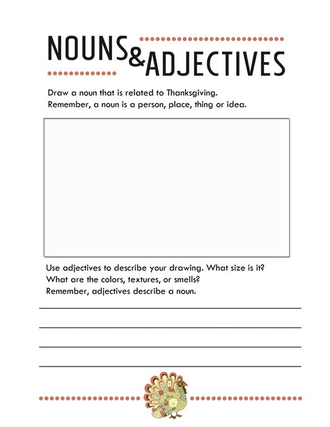 thanksgiving worksheets for kindergarten pdf