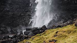 Download, Wallpaper, 1920x1080, Waterfall, Rock, Water, Spray