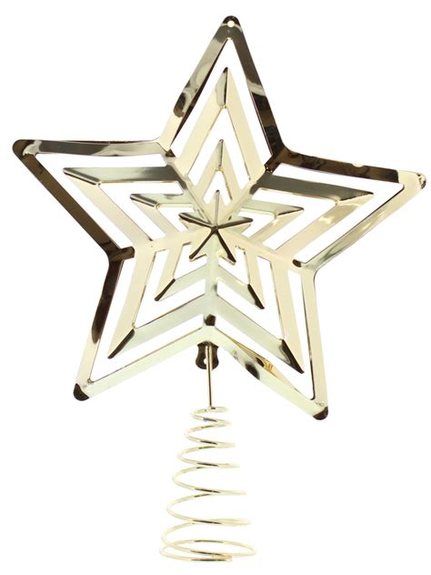 christmas tree topper star glitter gold silver xmas