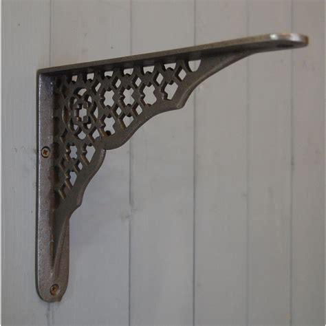deco shelf brackets deco cast metal wall and shelf bracket