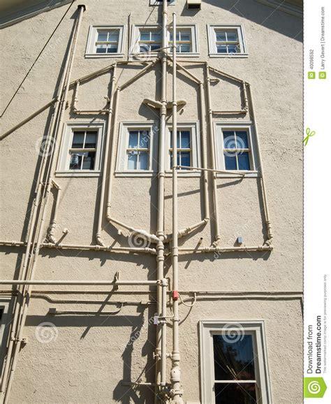 Building Plumbing by Exterior Plumbing Stock Photo Image Of Door Outside