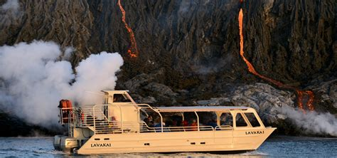 Lava Boat Tours On The Big Island by Volcano Boat Tours Volcano Activity In Hawaii National Park