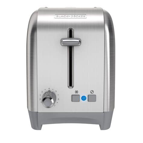toaster stainless black decker 2 slice stainless steel black toaster