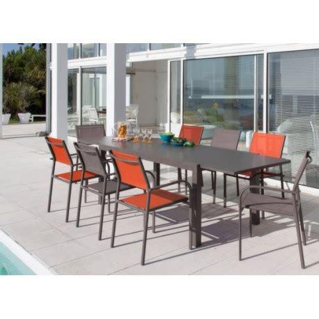 Table Jardin Plateau Verre by Table De Jardin Elise Plateau Verre Extensible 140 240 Cm