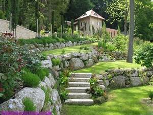 Les 25 meilleures idees de la categorie enrochement sur for Amenager jardin en pente 7 creer une jolie terrasse avec des paves en pierre