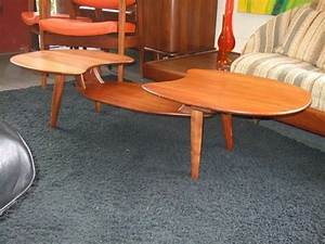 coolest multi level coffee table ever mid century With two level coffee table