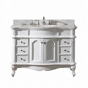 Virtu USA Norhaven 49 In W Bath Vanity In White With