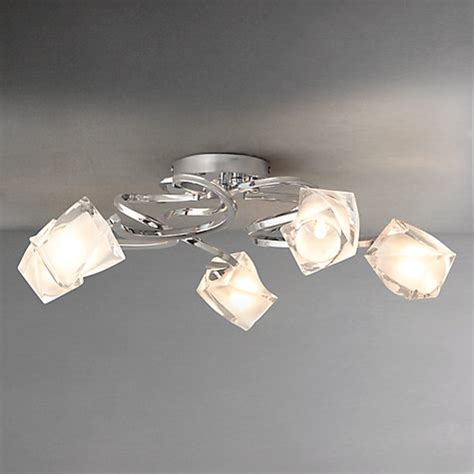 buy lewis nembus semi flush ceiling light chrome 5