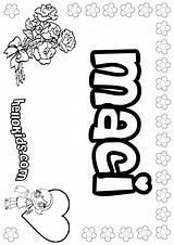 Maci Coloring Hellokids Names Tiny sketch template