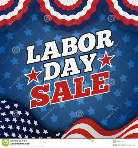 labor day sale promotion advertising banner design stock