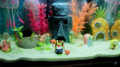 spongebob aquarium decoratie best complete spongebob theme aquarium spongebob