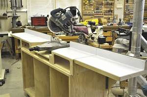 Portable miter saw stand – free woodworking plans