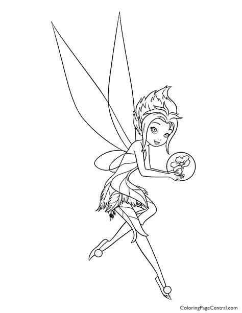 tinkerbell periwinkle  coloring page coloring page