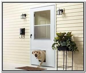 Exterior door with built in pet door lowes home decor for Interior door with dog door