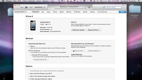 how to backup iphone to itunes how to backup iphone and with itunes