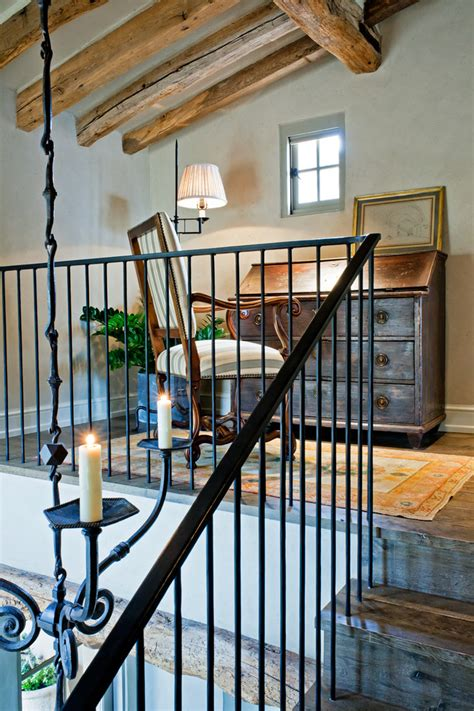 wrought iron stair railings interior entry traditional