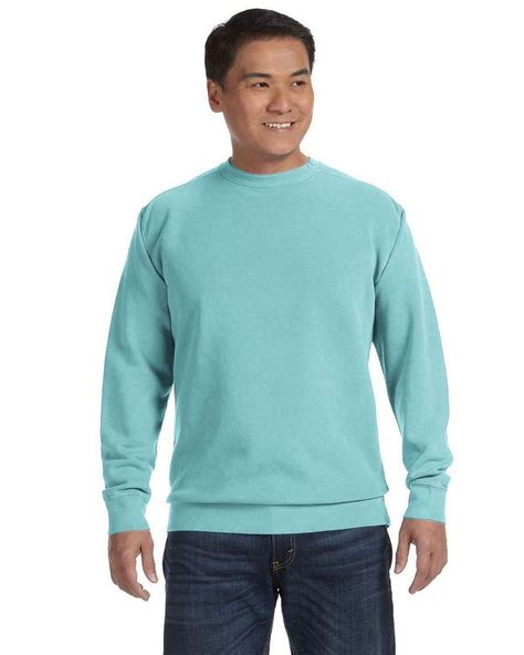 chalky mint comfort colors comfort colors 1566 garment dyed fleece crew