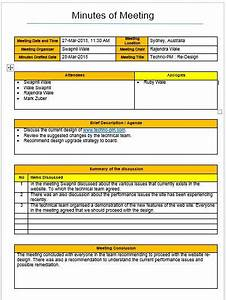 Format To Writing Minutes Meetings Format Template 4 Types Download Project Management