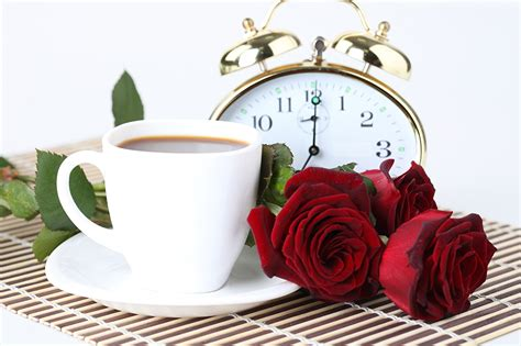 Picture Red Clock Roses Coffee Flowers Cup Food White Coffee Grinder Guide Co.za Big W Hario V60 Break Vintage Encore Nicosia Grinders Woolworths
