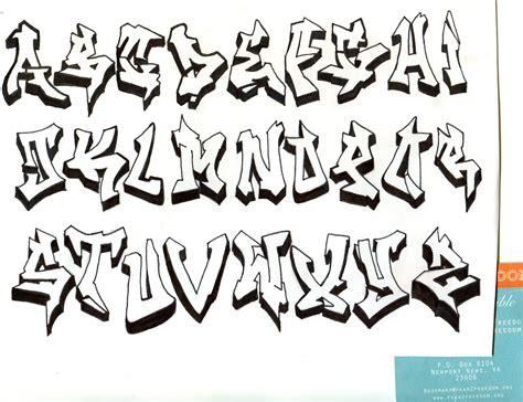 Graffiti Art Alphabet : Different Styles Of Graffiti Alphabet