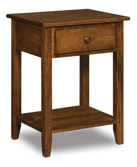 Open Nightstand by Shaker 1 Drawer Open Nightstand Amish Direct Furniture