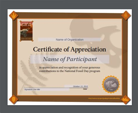 sample certificate  appreciation temaplates