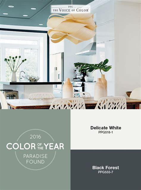 green paint color trends the ppg voice of color 174 2016 paint color of the year paradise found provides a backdrop of