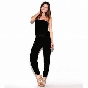 Combinaison Pantalon Femme Mariage : combinaison pantalon femme venca noir achat vente ~ Carolinahurricanesstore.com Idées de Décoration