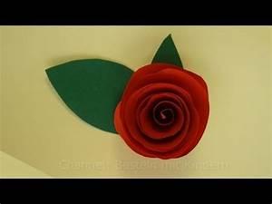 Einfache Papierblume Basteln : blumen basteln rosen basteln mit papier diy bastelanleitung youtube ~ Eleganceandgraceweddings.com Haus und Dekorationen