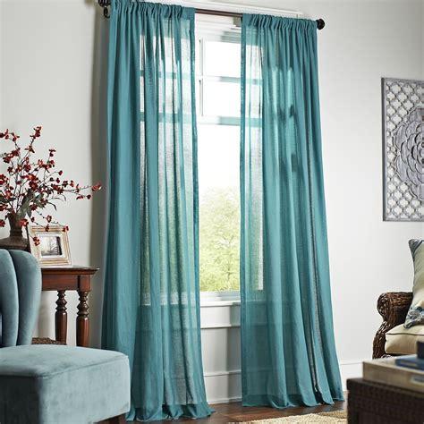 quinn sheer curtain teal pier  imports home