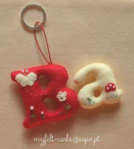 puffed letters in felt idea w embellishments felt With felt letter ornaments