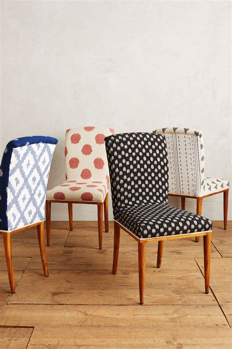 Kitchen Chair Upholstery by Elza Ikat Dining Chair Anthropologie