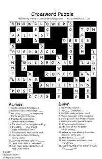 Crossword Puzzles with Answers