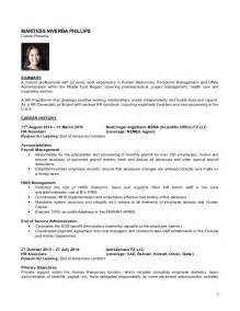 hr generalist experience resume cv april 2015 hr generalist maritess phillips