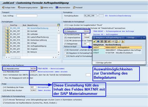 customize template formulary sap formular auftragsbest 228 tigung zum festpreis solidforms