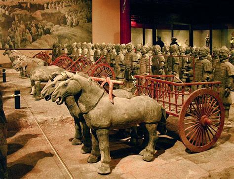 terracotta army terra cotta warriors  horses crystalinks
