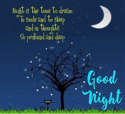 Night Dream Goodnight Wishes Sleep Greetings Cards