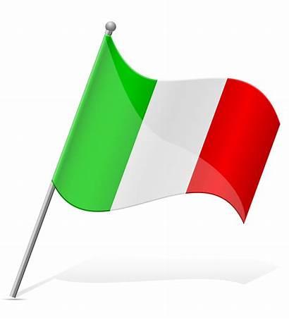 Flag Italy Vector Clipart Illustration