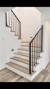 Stair, Design, Railing, Lighting, Along, The, Walls