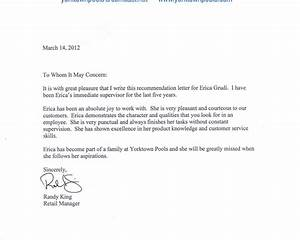 Generic Reference Letter Template Business