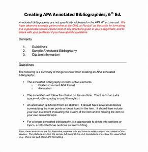 blank apa format template - 10 free annotated bibliography templates free sample