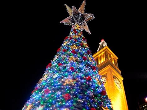 australia christmas lights santa claus and christmas