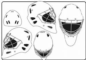 goalie mask template different sides blank hockey mask With bauer goalie mask template