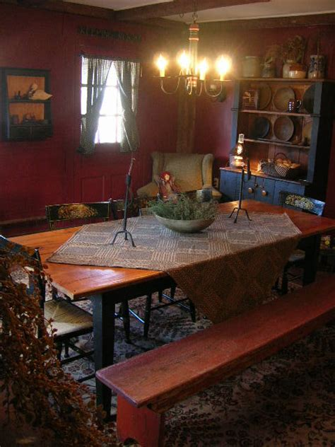 primitive place primitive colonial inspired dining rooms