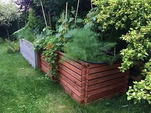 Komposter Holz Selber Bauen : ein hochbeet aus einem komposter bauen und bef llen ~ Articles-book.com Haus und Dekorationen