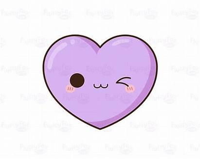 Heart Emoji Clipart Kawaii Hearts Clip Pastel