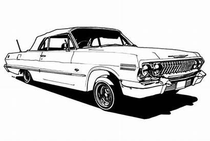 Lowrider Coloring Cars Classic Printable Impala Drawings